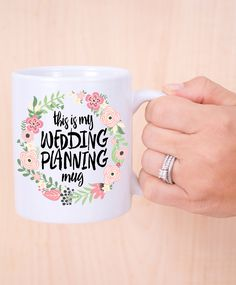 So cute for a bride-to-be from @zcreatedesign This is My Wedding Planning Mug!