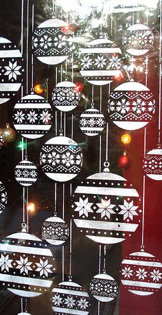 Christmas art craft window display decoration paint Stencils Candy cane stencil