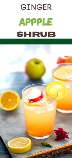 Prepare for love at first sip with this Apple Shrub Recipe! You are going to love the sweet and tangy flavor. It is refreshing, and so satisfying. Ginger Tea, Fresh Ginger, Fresh Fruit, Refreshing Drinks, Fun Drinks, Apple Shrub Recipe, Apple Recipes, Holiday Recipes, Make Apple Cider Vinegar