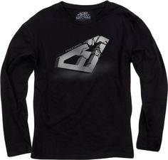 FXR Racing - Snowmobile Gear - Men's Icon Longsleeve - Black