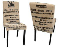 Chaise moderne avec une housse en sac de café par ATELIER D'éco SOLIDAIRE