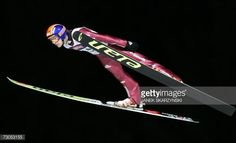 Ski jumper Rok Urbanc from Slovenia jumps during first series jump during World Cup in Zakopane 20 January 2007 The second series was cancelled...