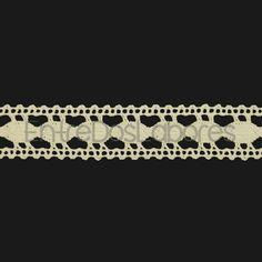 Entredós de encaje de bolillos de algodón mercerizado de 2,8 cm. (Disponible en 2 colores)