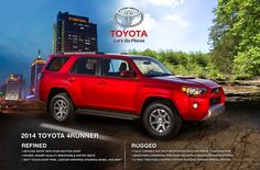 New 2014 4Runner Features Rugged Exterior Design to Match Its Authentic Off-Road Heritage: Toyota of Plano Blog