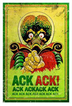 """Mars Attacks: """"Mars Wants You!"""" Mars Wants You! Mars Attacks, Retro Horror, Vintage Horror, Arte Horror, Horror Art, Geek Mode, Matchbox Art, Alien Art, Horror Comics"""
