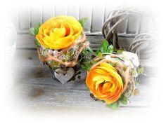 Deko-Objekte - Frühlingsdeko *2er Set* - ein Designerstück von Flora89 bei DaWanda