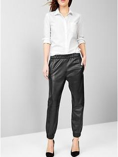 Leather jogger pants. Got some faux leathers ones that are similar from H&M, though.