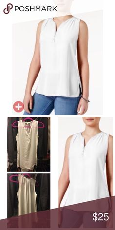 ⚡️FLASH SALE TODAY ONLY⚡️Brand new w/out tags top Pull on this pretty tank top with Henley styling and a high low hem - perfect with jeans, shorts or your favorite skirt.     Polyester/ Round neckline/ pullover style/ sleeve-less/ three-button front placket/ easy fit/ high-low hem with side vents/ Brand new and never worn. Hippie Rose Tops Tank Tops