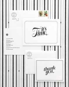 "See+the+""Black-and-White+Invitation""+in+our+Modern+Wedding+Invitations+gallery"
