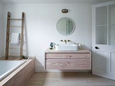 Steal This Look: A London Bathroom Clad in Dinesen Wood: Remodelista