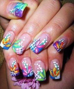 Tropical nail design love it !