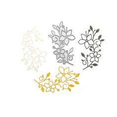 Dies 'Vingette Floral Branch' 5,9x10,2 11€