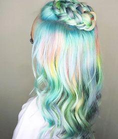 Bright mermaid hair.