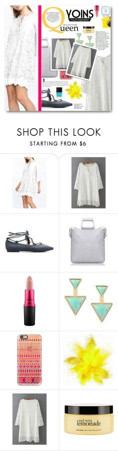 """""""Be A Polyvore Queen"""" by tasnime-ben ❤ liked on Polyvore featuring MAC Cosmetics, Casetify, philosophy, Butter London, yoins and yoinscollection"""