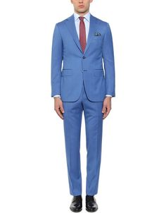 Elegant blue suit in 150s wool and silk for men | Canali.com