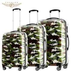 20 24 28 inch 3 piece Camouflage Fashion Luxury Luggage Sets