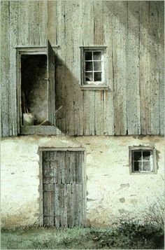 Slide no. Drawing-Painting-Foto - Terra Incognita -- by Ray Hendershot. Watercolor Architecture, Watercolor Landscape, Landscape Paintings, Watercolor Paintings, Watercolors, Barn Paintings, Top Paintings, Painting Abstract, Le Far West
