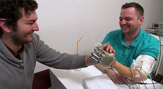 A bionic arm and a nerve implant give one amputee a sense of touch