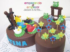 My angry birds cake