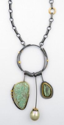 Pale Turquoise Ring Necklace