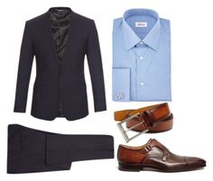 Men's business formal 1 by luciana-coconut on Polyvore featuring Brioni, Dolce&Gabbana, Magnanni, Saks Fifth Avenue Collection, men's fashion and menswear