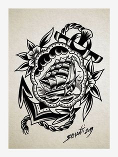 Black Book by Samuele Briganti Traditional Black Tattoo, Traditional Tattoo Old School, Dibujos Tattoo, Desenho Tattoo, Leg Tattoo Men, Leg Tattoos, Pirate Tattoo Old, Tattoo Blanco, Grenade Tattoo