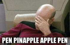 I'll Never Understand Viral | PEN PINAPPLE APPLE PEN | image tagged in memes,captain picard facepalm,ppap | made w/ Imgflip meme maker