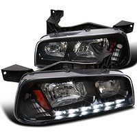 Cheap Dodge Charger 1PC Black Clear SMD LED DRL Headlights Corner Signal Lamps…