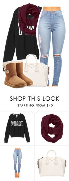 """Untitled #1298"" by lulu-foreva ❤ liked on Polyvore featuring Victoria's Secret PINK, Athleta, Givenchy and UGG Australia"