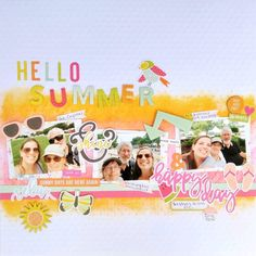 """345 Likes, 7 Comments - Paper Issues (@paperissues) on Instagram: """"You can catch @rwkrafts on the blog today with this great summertime layout featuring Sunshine and…"""""""