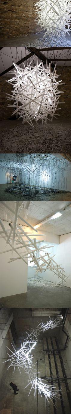 Fluorescent Light Installation by Hitoshi Kuriyama