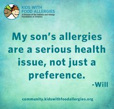 Check out 22 Things We Wish You Knew About Food Allergies from Kids with Food Allergies. Tree Nut Allergy, Egg Allergy, Peanut Allergy, Allergy Asthma, Kids Allergies, Allergy Free Recipes, Mom Quotes, Check, Mast Cell