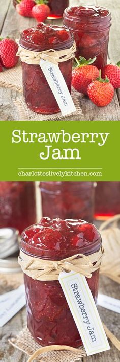 Easy to make, homemade strawberry jam with extra tips for using frozen strawberries, what to do if you don't have a sugar thermometer and what to do if your jam doesn't set.