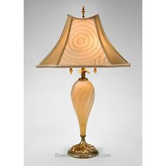 Virginia Table Lamp 62z68 by Kinzig Design, Colors Creamy Glass, Beige, Cream, Blown Glass, Artistic Artisan Designer Table Lamps