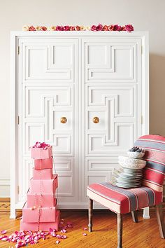 Lacquered Regency Armoire  #anthropologie