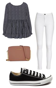 """Untitled #254"" by gretchenruhlander ❤ liked on Polyvore featuring Michael Kors, Converse, women's clothing, women, female, woman, misses and juniors"
