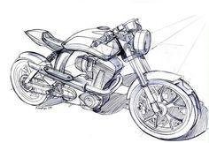 Mac Motorcycles Peashooter front design sketch