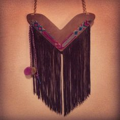 Lolita Mia, Fringe & Pompom Necklace