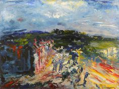 I went to school in Ireland for a semester in college and my favorite artist I studied was Jack B. Yeats.