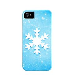 Christmas iPhone Case - winter iphone 5 case - snowflake iphone 4 case - blue snow - holiday iphone case - cute iphone 4s case cover cell. $45.00, via Etsy.