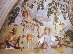 Jacopo Pontormo, Vertumnus and Pomona (detail), 1519-21, Villa Medicea di Poggio a Caiano, Poggio a Caiano