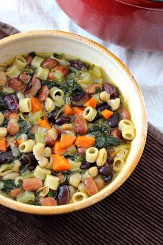 Three Bean Minestrone (Vegetarian) - could use some additional broth