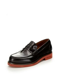 Contrast Rubber Sole Loafers