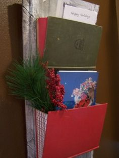Beyond The Picket Fence: 12 Days of Christmas Ideas--Day 12--Christmas card holder