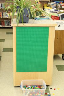 Love this! What an easy way to fit some creativity into small spaces. - Area 3 Learning Commons: So I built a Lego Wall...
