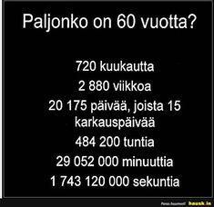 Paljonko on 60 . Cards Against Humanity, Facts, Thoughts, Sayings, Words, Funny, Life, Humor, Lyrics