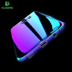 FLOVEME Cool Blue Ray Plastic Case For Smausng Galaxy S7 / S7 Edge / S8 / S8 Plus / S6 / S6 Edge Gradient Color Plated Cover -  http://mixre.com/floveme-cool-blue-ray-plastic-case-for-smausng-galaxy-s7-s7-edge-s8-s8-plus-s6-s6-edge-gradient-color-plated-cover/  #MobilePhoneBagsCases
