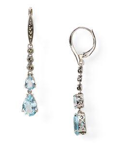Judith Jack Divine Linear Blue Topaz Earring