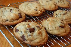 America's Test Kitchen Perfect Chocolate Chip Cookies. Apparently the secret is in the browned butter.