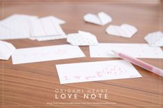 A great Valentine to make for the whole family! Includes a video to show exactly how fun these origami heart love notes are (and how easy to make).